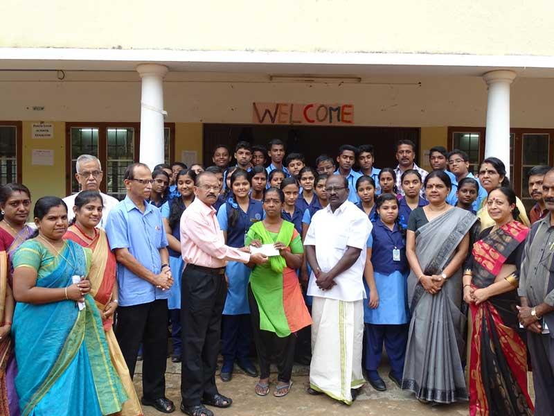 charity - social service club - bhavans manvila trivandrum