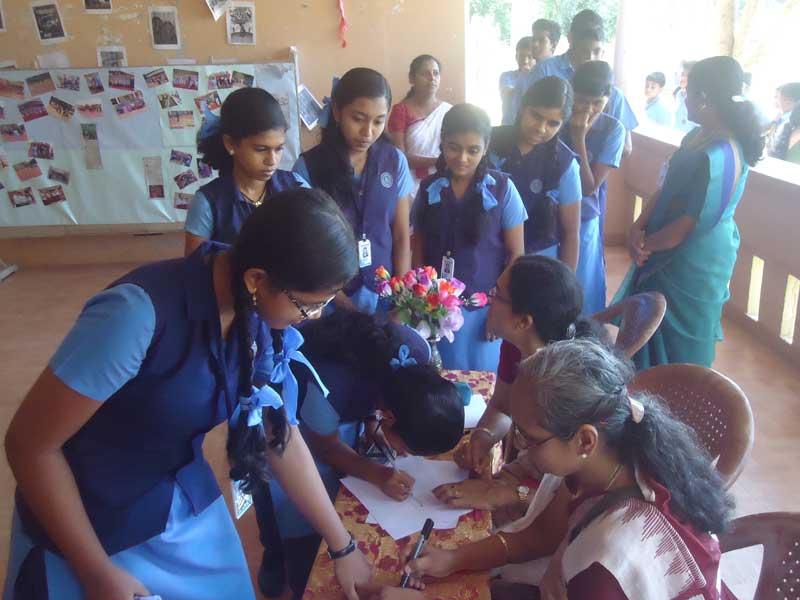 school parliament election - bhavans manvila trivandrum