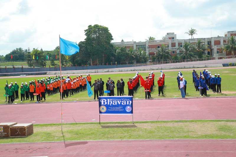 sports day - bhavans manvila school trivandrum