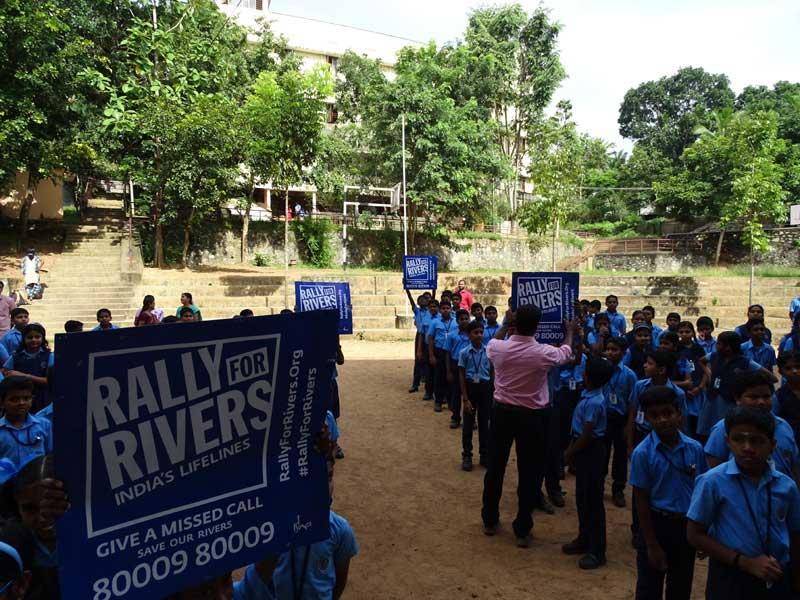 Rally for Rivers-Bhavans Manvila School Trivandrum